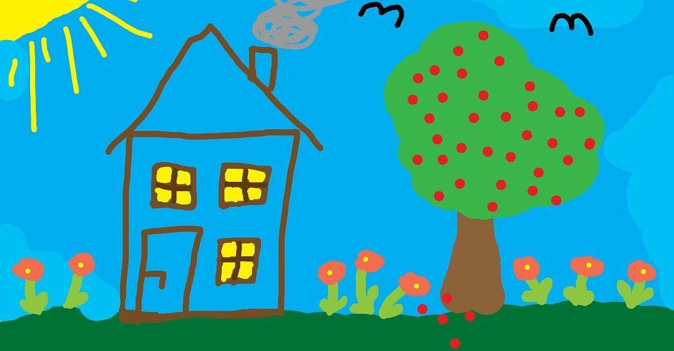 maison enfants dessin